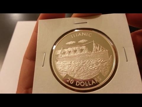 2000 Republic of Liberia $20 Dollar Titanic Design .999 Fine Silver Proof