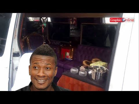 Check out Asamoah Gyan`s luxury Mercedes-Benz bus