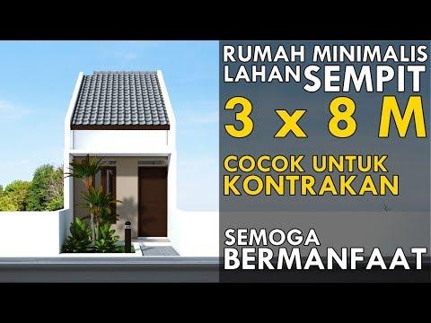 Desain Rumah Minimalis Lebar 5 Meter  house plan 3 x 8 m casa 3 x 8 m