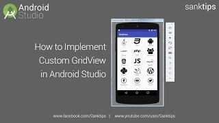 How to Implement GridView in Android Studio | Sanktips