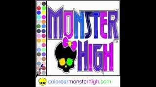 Juego: Colorear Logo Monster High