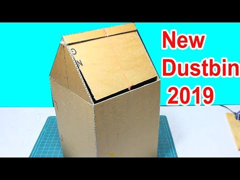 How to Make dustbin bags 2019 With Cardboard at Home - DIY[tutorial]