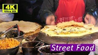 Shanghai Jianbing Crepe(上海煎饼) 4K: Most Authentic Crepe Chinese Street Food 2018 | #mTube Foods