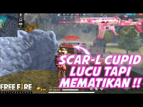 download SKIN LUCU TAPI MEMATIKAN!!?? NEW SKIN SCAR-L CUPID - Garena Free Fire