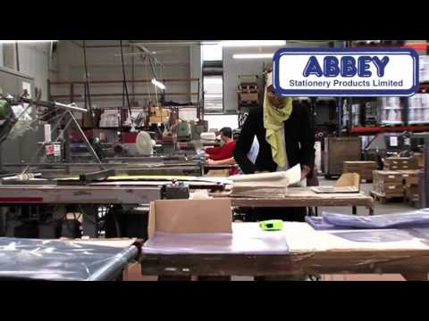 Inside the Abbey Stationery Warehouse - Manufacturers of Printed Ringbinders, Folders & more,
