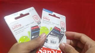 Kartu Memori hp mmc Microsd Micro sd card sandisk 32gb 32 GB kelas 10
