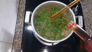 cách nấu canh rau tập tàng chua ngọt mát.