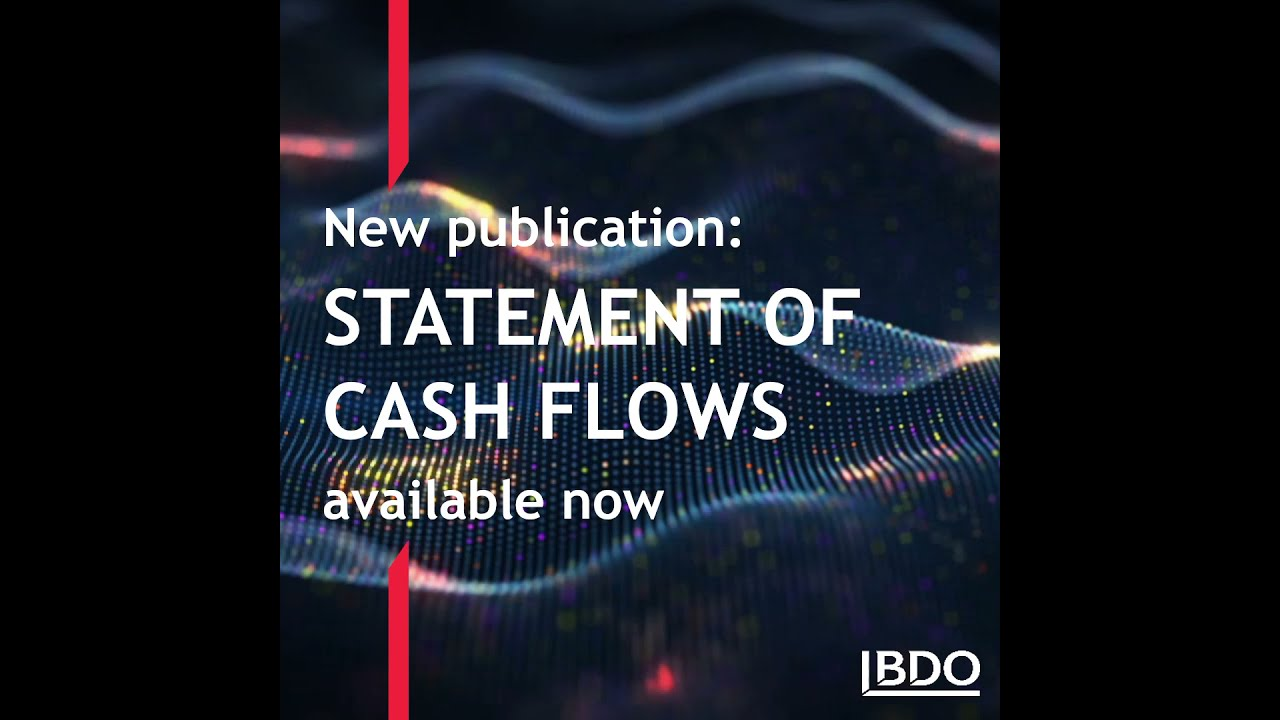 Great new publication about Statement of Cash Flows by BDO in Estonia
