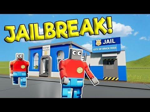 HOW TO ESCAPE LEGO CITY JAIL! - Brick Rigs Roleplay Gameplay - Lego Jailbreak