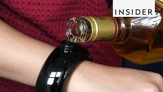 This Bracelet is Actually a Flask