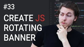 33: How to create a rotating banner using JavaScript - Learn JavaScript front-end programming
