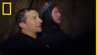 Armie Hammer Ascends From an Underground Cave | Running Wild With Bear Grylls