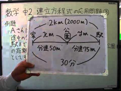 中学2年 数学 「連立方程式の ...