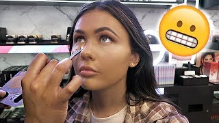 GETTING MY MAKEUP DONE AT A MORPHE MAKEUP COUNTER | ItsSabrina