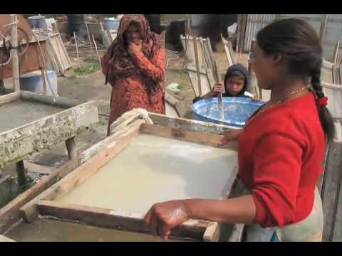 Handmade Paper Making Operation in Kathmandu, Nepal - Art ...