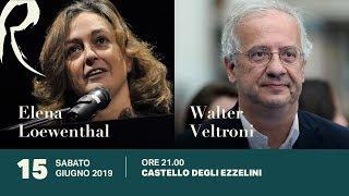 Elena Loewenthal e Walter Veltroni,