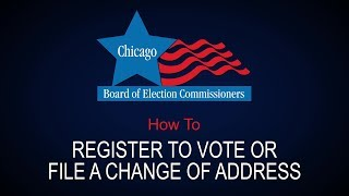 How To: Register to Vote or File a Name or Address Change