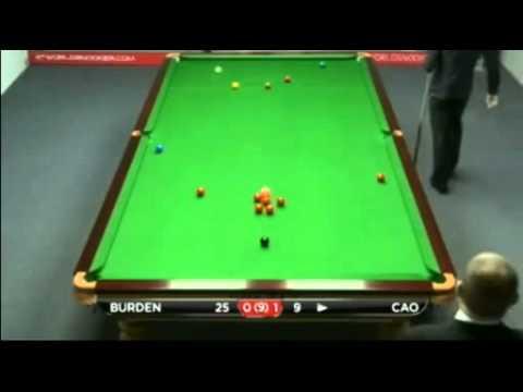 Snooker Australian Goldfields Open 2012 qualifiers  R2 - Burden vs Cao曹宇鵬  - Fr.1/2