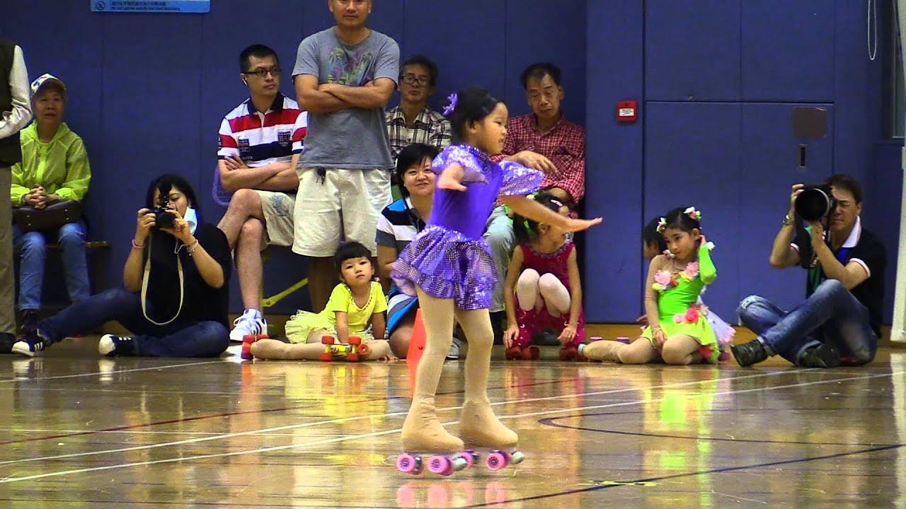 20151018 香港花式滾軸溜冰公開賽 第一組女子 - YouTube