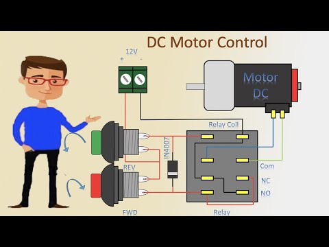 Dc Motor control Forward Reverse and stop | Dc Motor Forward Reverse | DC  Motor - YouTubeYouTube