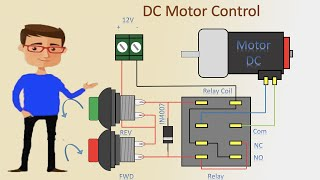 Dc Motor control Forward Reverse and stop | Dc Motor Forward Reverse | DC Motor
