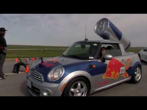 RedBull Girls take Mini Cooper Racing!