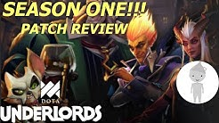 SEASON ONE PATCH REVIEW! New Units, Alliances, Items, etc. | Dota Underlords