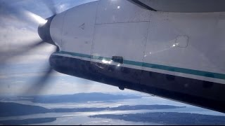 Takeoff from Bellingham Airport in a Horizon Air Q400