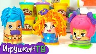 Божевільні зачіски граємо з іграшками play doh