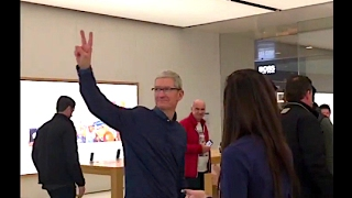 Tim Cook en visite à l'Apple Store de Marseille - iPhon.fr