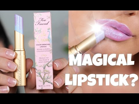 Thumbnail: 'UNICORN TEARS' by Too Faced!! Beautiful Colour Changing Lipstick!