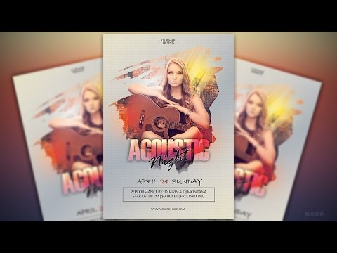 Make an Music Flyer With Creative Mask In Photoshop