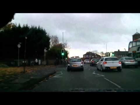 Driving in Manchester: Fallowfield - Airport - Stretford run
