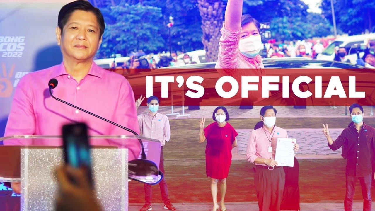 BBM VLOG #180: It's Official - I'm Running for President | @Bongbong Marcos