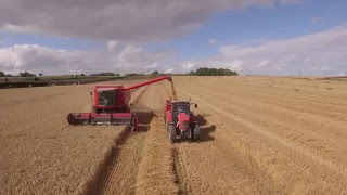 Yorkshire Harvest 2015 From Above UK