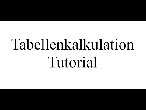 Tabellenkalkulation Tutorial 0040 ( Open Office Calc Libre Office Excel )