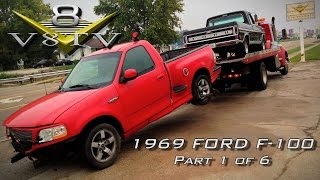 1969 Ford F100 / 2002 Ford Lightning ThundersTruck Video Part 1 of 6  V8TV