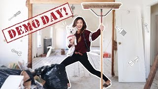 TEARING DOWN THE HOUSE! + Shopping for Floors & Tile | ilikeweylie