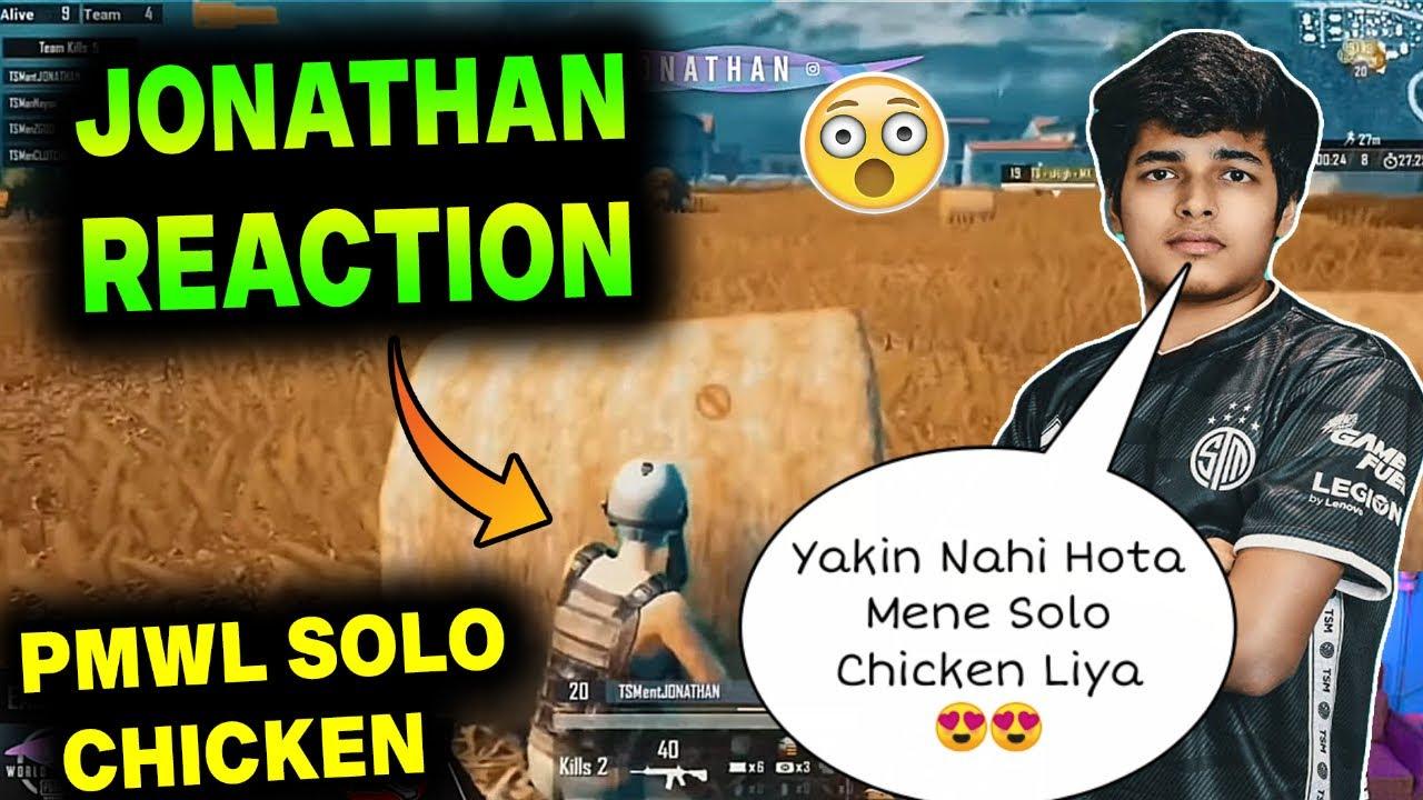 😲 JONATHAN REACTION On PMWL SOLO Chicken Dinner | Jonathan Emotional Moment | Jonathan Best Reflexes