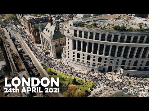 Masiva marcha por la libertad en Londres 24.04.2021