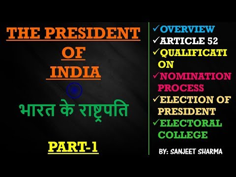 PRESIDENT OF INDIA, PART-1 [SSC CGL/RAILWAY/ NDA/CDS/OTHER GOVERNMENT EXAMS]
