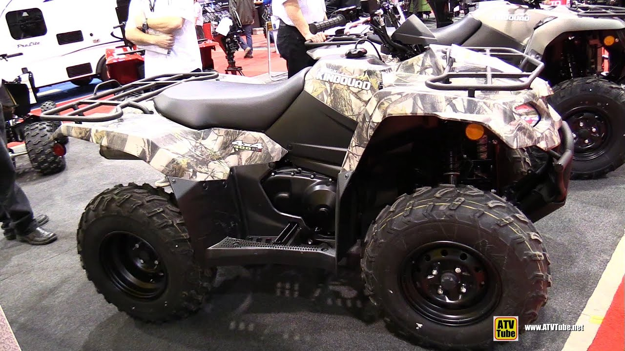 2015 suzuki king quad 400 camo atv walkaround 2015 salon chasse peche quebec youtube. Black Bedroom Furniture Sets. Home Design Ideas