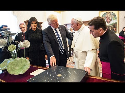 Trump And Pope Francis Exchange Gifts
