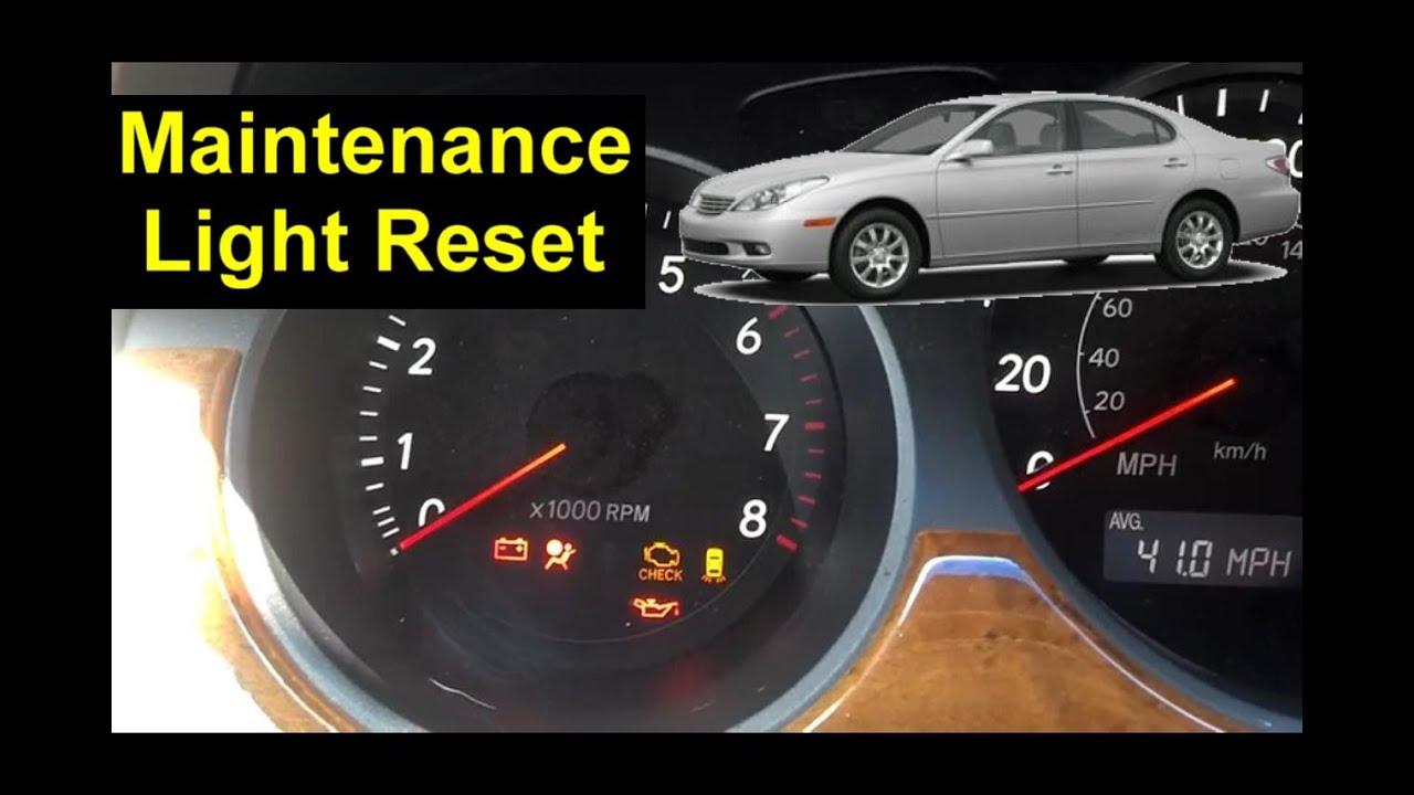 Lexus Maintenance Light Reset Proceedures - Auto Repair ...