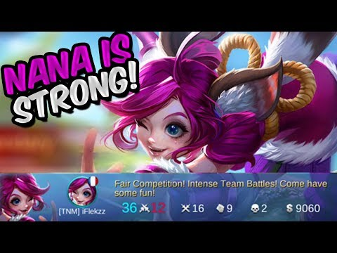 NANA IS STRONGER THEN YOU THINK! REMAKE NANA GAMEPLAY MOBILE LEGENDS