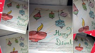 Easy handmade diwali card ll card craft in 5 minutes ll DIY ll paper craft idea ll