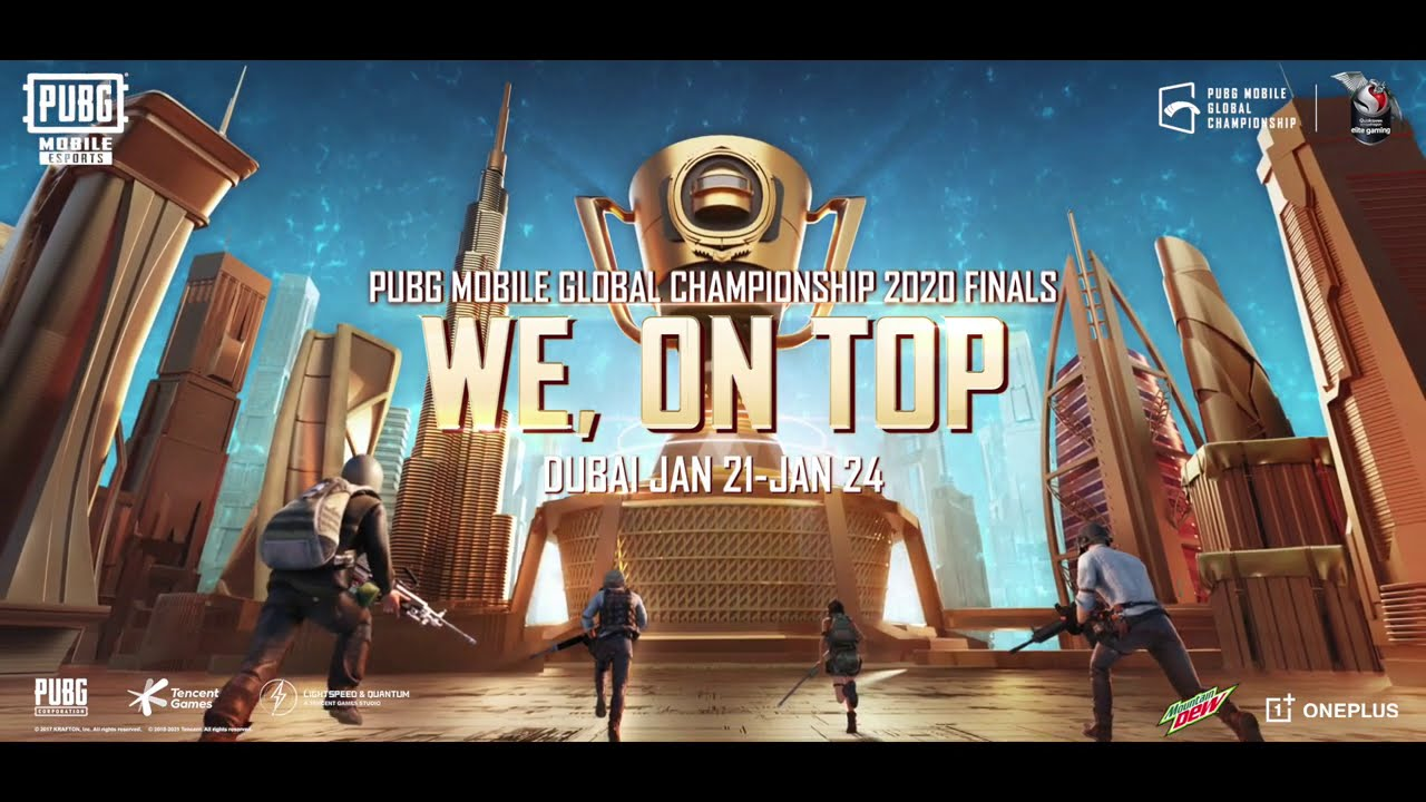 """""""Battle for Glory,"""" Official Theme Song of the PUBG MOBILE Global Championship 2020 Finals"""