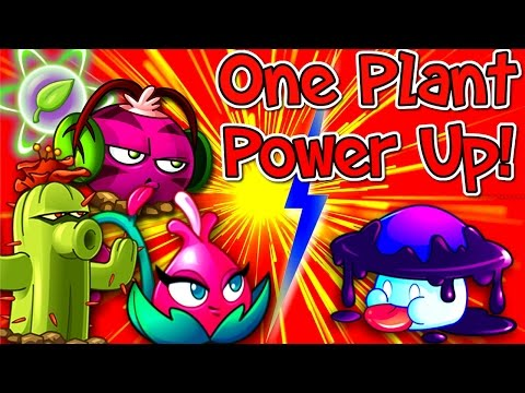 Plants vs. Zombies 2 Gameplay One Plant Power Up Vs Zombies Jurassic Marsh