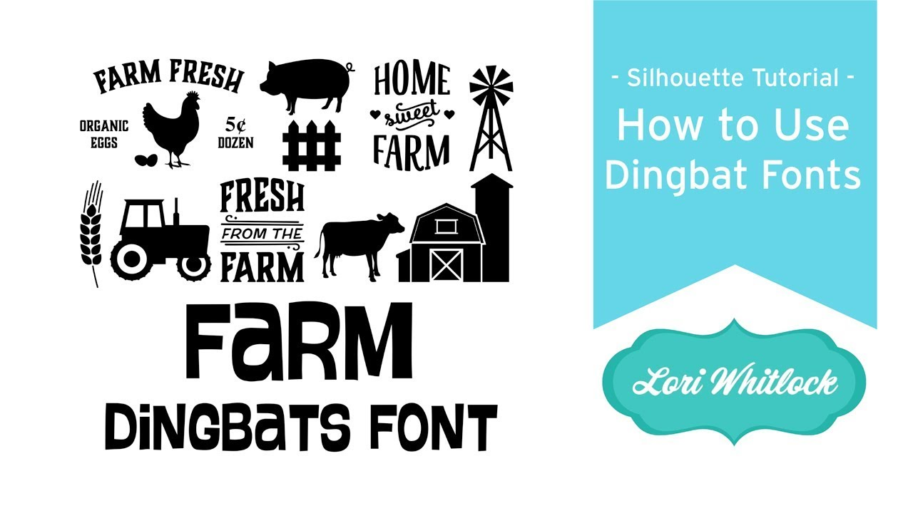 How to Use Dingbat Fonts in Silhouette Studio