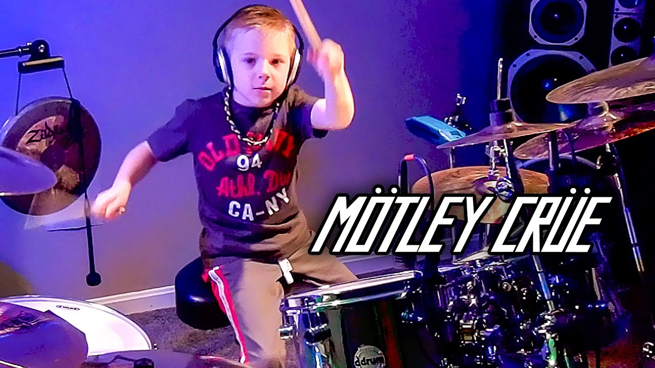 SMOKIN IN THE BOYS ROOM (6 year old Drummer) Drum Cover by Avery Drummer Molek